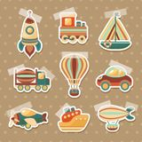 Transport toy stickers set Stock Photography