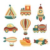 Transport Toys Icons Set Royalty Free Stock Photo
