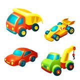 Transport toys set Stock Photos