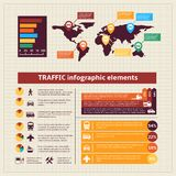 Transport traffic infographics elements Stock Images