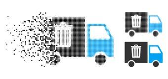 Transport tramé déchiqueté Van Icon de déchets de pixel illustration libre de droits
