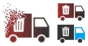Transport tramé Van Icon de déchets de pixel cassé illustration libre de droits