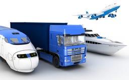 Transport Transport Drev, lastbil, flygplan och yacht royaltyfri illustrationer