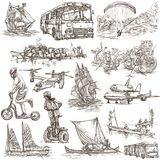 Transport, Transportation around the World - An hand drawn colle Stock Image