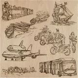 Transport, Transportation around the World - An hand drawn vecto Royalty Free Stock Photo