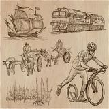 Transport, Transportation around the World - An hand drawn vecto Stock Photo