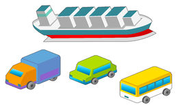 Transport & Travel icons Stock Images