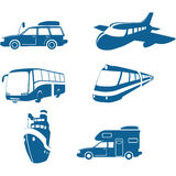 Transport & Travel icons stock illustration