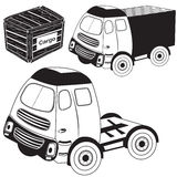 Transport truck black icons Royalty Free Stock Photos