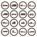 Transport truck icons Stock Photo
