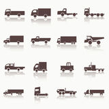 Transport truck icons stock illustration