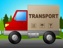 Transport Truck Means Trucking Post And Courier Royalty Free Stock Photography