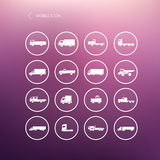 Transport truck mobile icons Royalty Free Stock Image