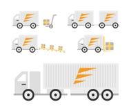 Transport truck set Royalty Free Stock Photography