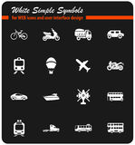 transport types icon set Stock Photography
