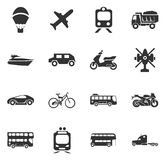 Transport types icons set Royalty Free Stock Image