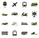 Transport types icons set Stock Photography