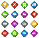 Transport types icons set Royalty Free Stock Photo