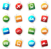 Transport types icons set Royalty Free Stock Images