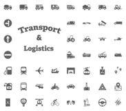 Transport- und Logistikbuchstabeikone Gesetzte Ikonen des Transportes und der Logistik Gesetzte Ikonen des Transportes Stockbild