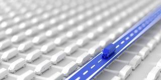 Transport- und Logistikhintergrund Lizenzfreies Stockbild