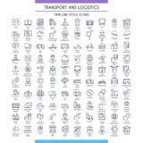 Transport und logistische Linie großer Satz Stockbild