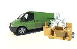 Transport urgent de fourgon de livraison Image libre de droits