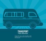 Transport van vehicle design Royalty Free Stock Photo