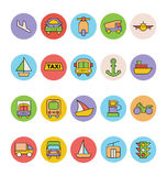 Transport Vector Icons 5 Royalty Free Stock Images