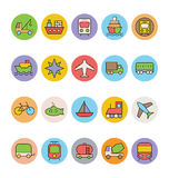 Transport Vector Icons 2 Royalty Free Stock Photos
