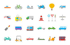 Transport vector  icons set. Set of 24 Transport vector  icons Royalty Free Stock Images