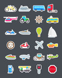 Transport  vector icons set. Set of 24 Transport  vector icons Royalty Free Stock Photos