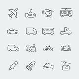 Transport vector icons Royalty Free Stock Image
