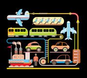 Transport - vector illustration Stock Photo