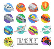 Transport Vector Logo Illustration. Set of Icons. Transport vector logo illustration. Set of transport icons. Vector in isometric projection. Road, railway Royalty Free Stock Photo