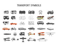 Transport vector shapes and elements for creation your own outdoor labels, wilderness retro patches, adventure vintage Stock Images