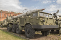 Transport vehicle 9T29 with a missile 9M21 missile complex 9K52 Royalty Free Stock Image