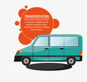 Transport vert de van vehicle Image stock