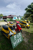 Transport w Aitutaki Kucbarskich wyspach Obrazy Stock