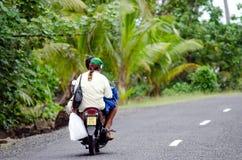 Transport w Aitutaki Kucbarskich wyspach Obraz Royalty Free