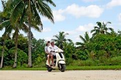 Transport w Aitutaki Kucbarskich wyspach Zdjęcia Royalty Free