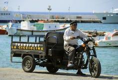 Transport w mykonos Fotografia Royalty Free