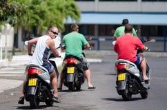 Transport w Rarotonga Kucbarskich wyspach Zdjęcia Stock