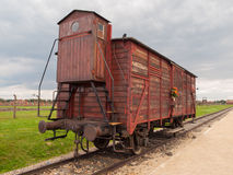 Transport wagon in concentration camp Royalty Free Stock Photography