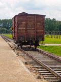 Transport wagon in concentration camp Royalty Free Stock Photo