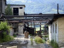 Free Transport Wagon For Underground Coal Mine, Ruins, Jiu Valley, Romania Royalty Free Stock Photography - 169126447