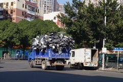 Transport waste garbage truck Royalty Free Stock Photos