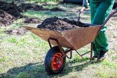 Transport on a wheelbarrow Royalty Free Stock Photography