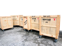 Transport wooden crates Royalty Free Stock Images