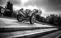Transportable historic cannon of World War II Royalty Free Stock Photography